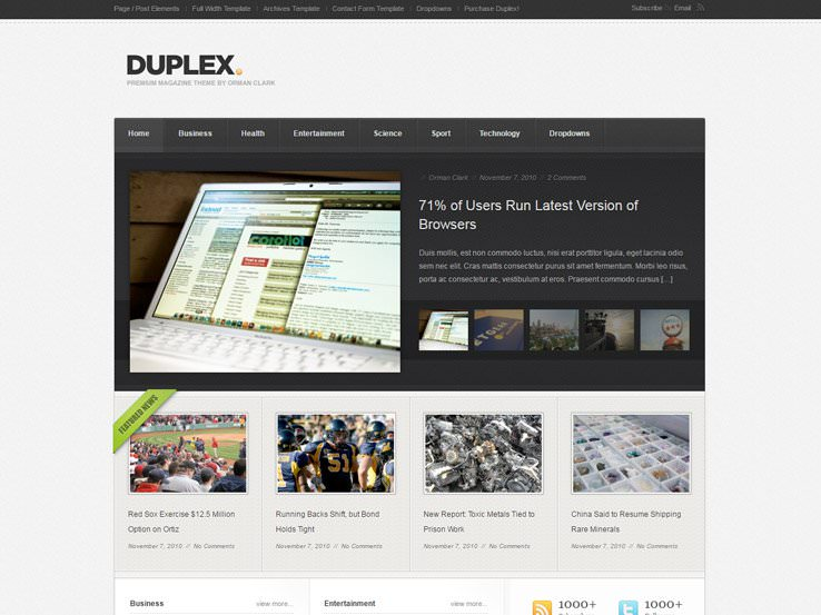 DUPLEX шаблон для Вордпрес для создания форума