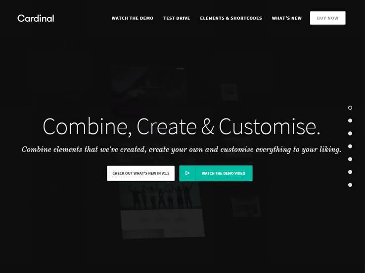 Cardlina шаблон для Вордпрес для создания минималистичного сайта сообщества