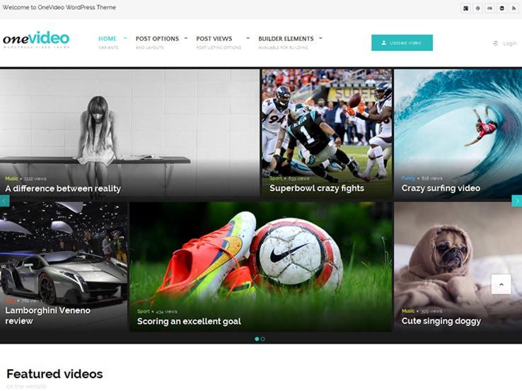 OneVideo шаблон для Вордпрес для создания обсуждений