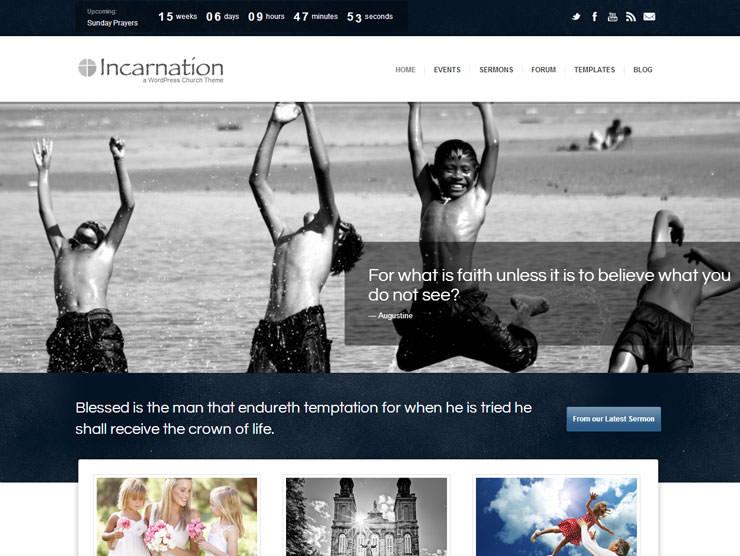 Incarnation шаблон для Вордпрес для благотворительного общества