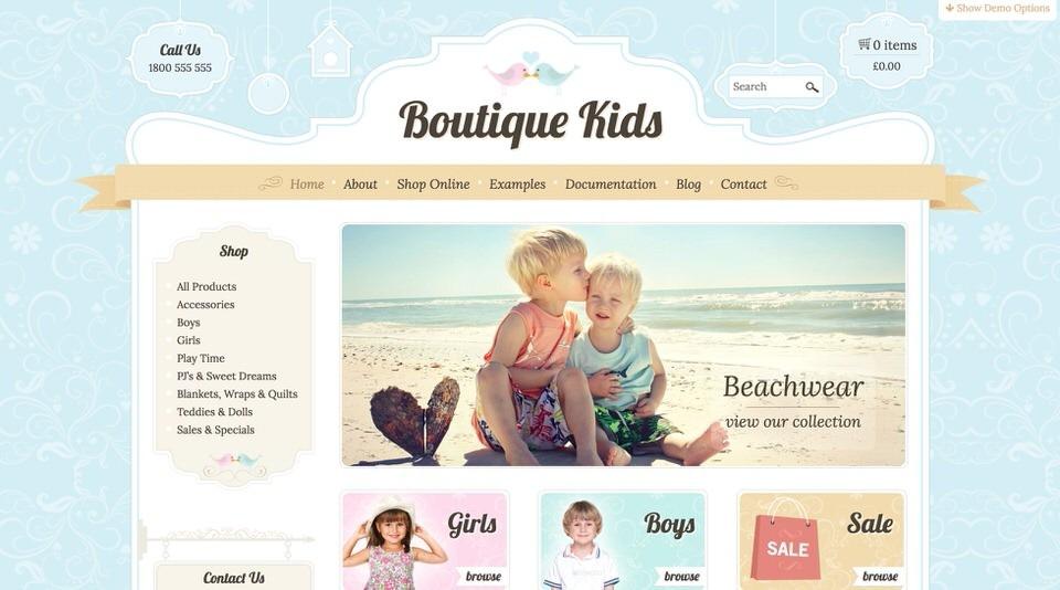 Boutique Kids Creative для сайта фотоальбома на ВП.