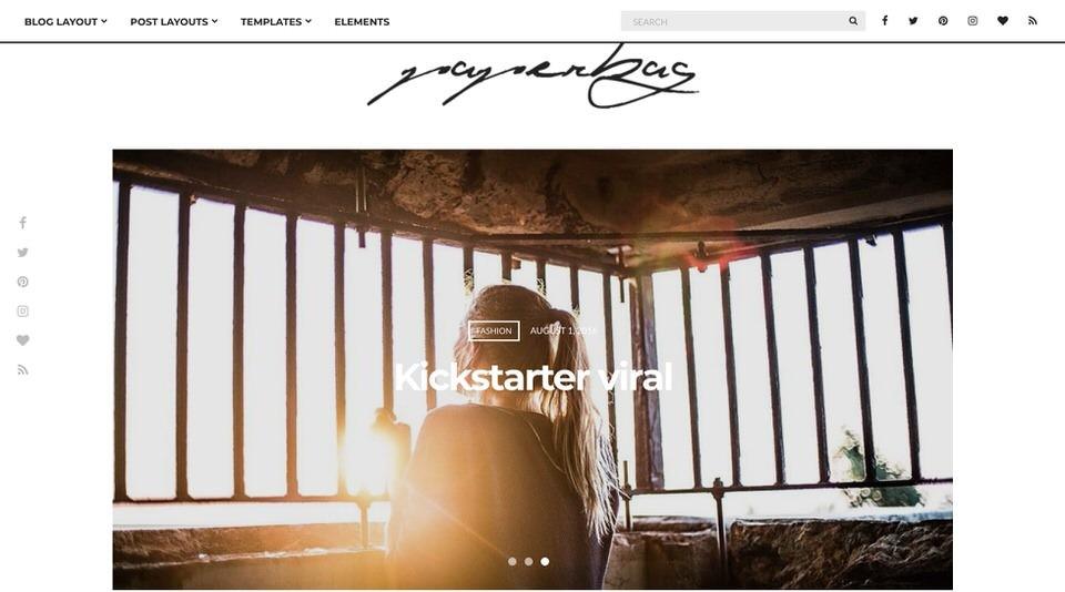 Paperbag шаблон WordPress для создания веб-сайта вашей семьи
