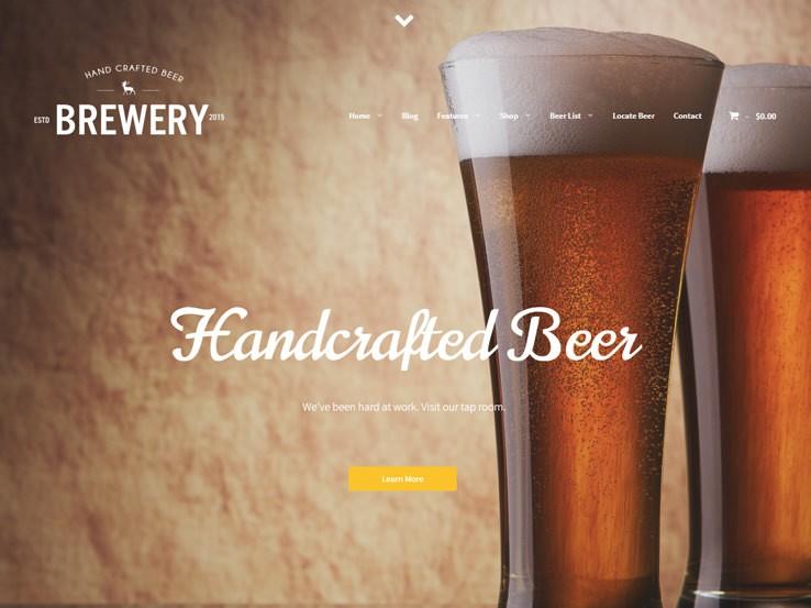 Brewery солидная тема WordPress.