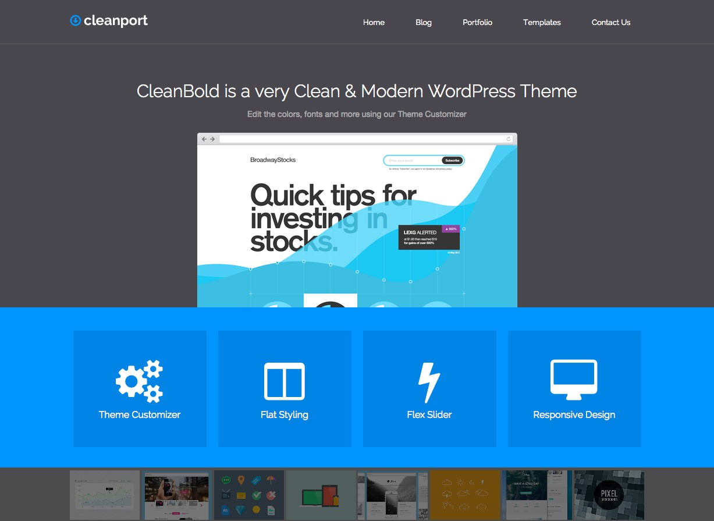 CleanPort Business WordPress Theme