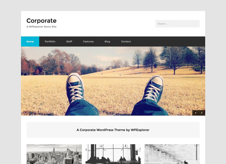 Корпоративный бесплатный бизнес WordPress Theme