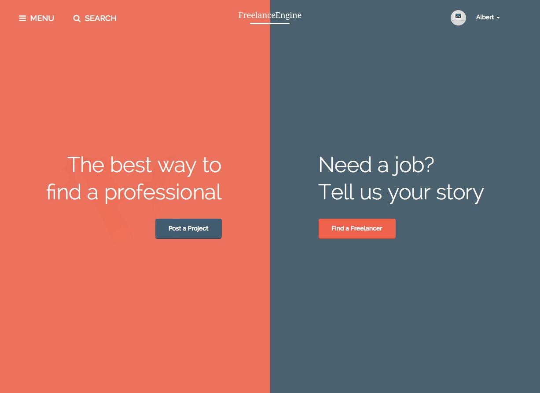 FreelanceEngine Business WordPress Theme