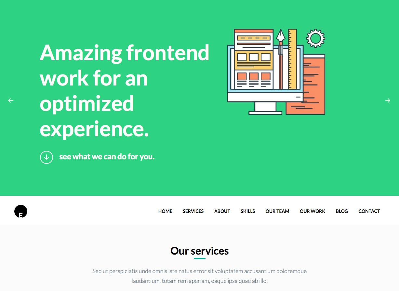 OneEngine Бесплатная бизнес-тема WordPress