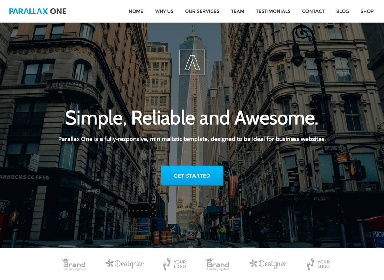 Parallax One - бесплатная бизнес-тема для WordPress