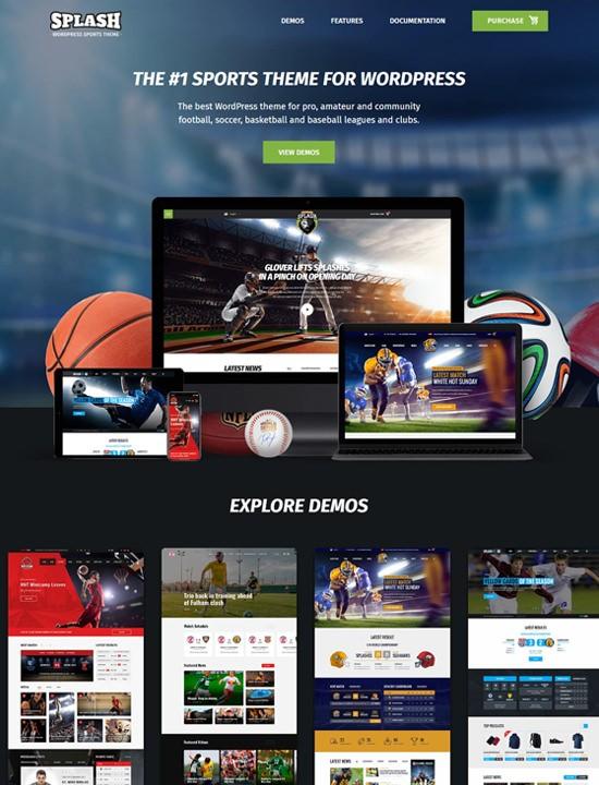 всплеск спорт WordPress спортивные темы