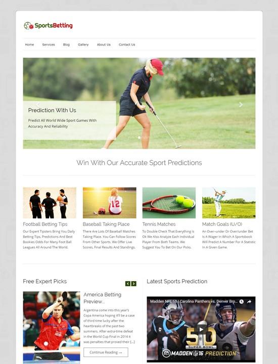Sports Betting WordPress спорт-тема