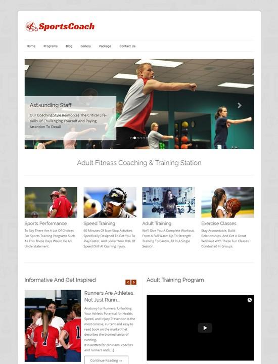 Sports Coach WordPress спорт тема