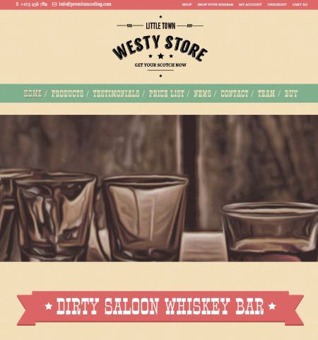 Шаблон Westy-магазин