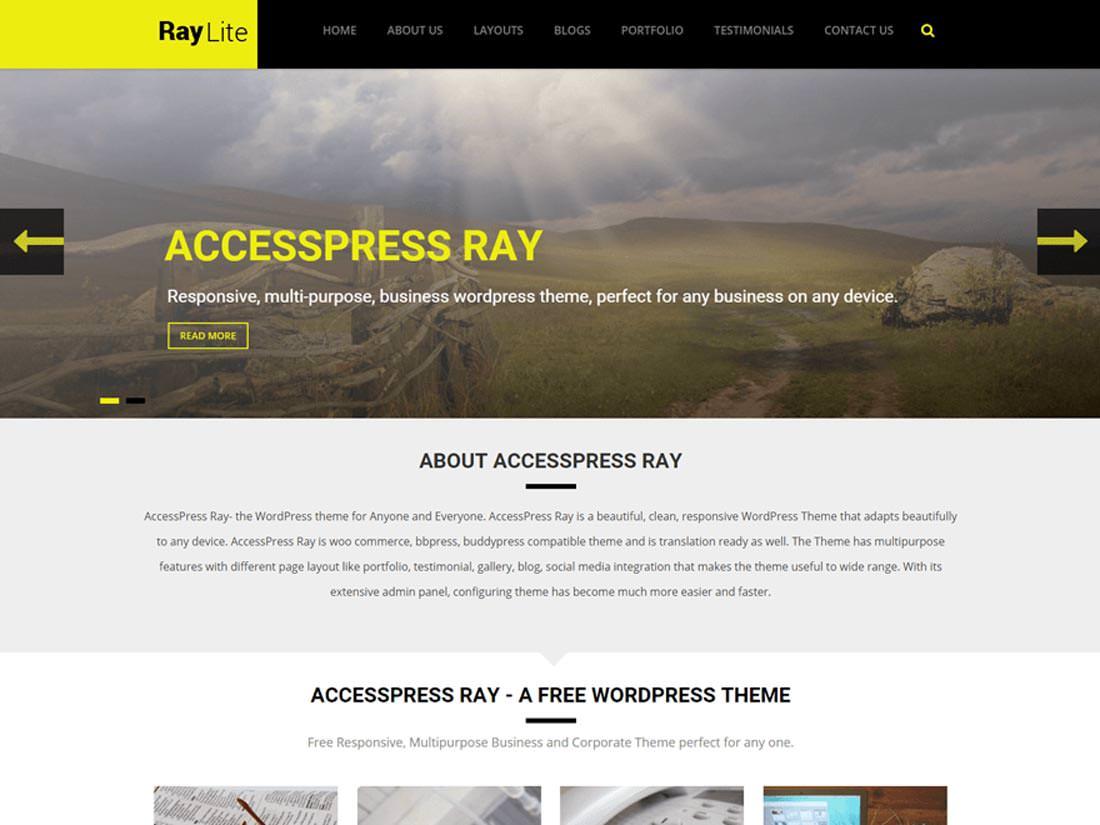 Accesspress Ray бесплатный дизайн для сайта на Вордпресс