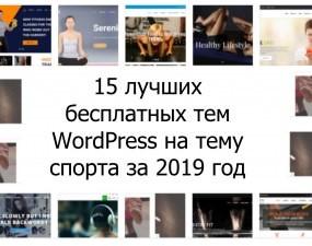 15 лучших бесплатных тем WordPress на тему спорта