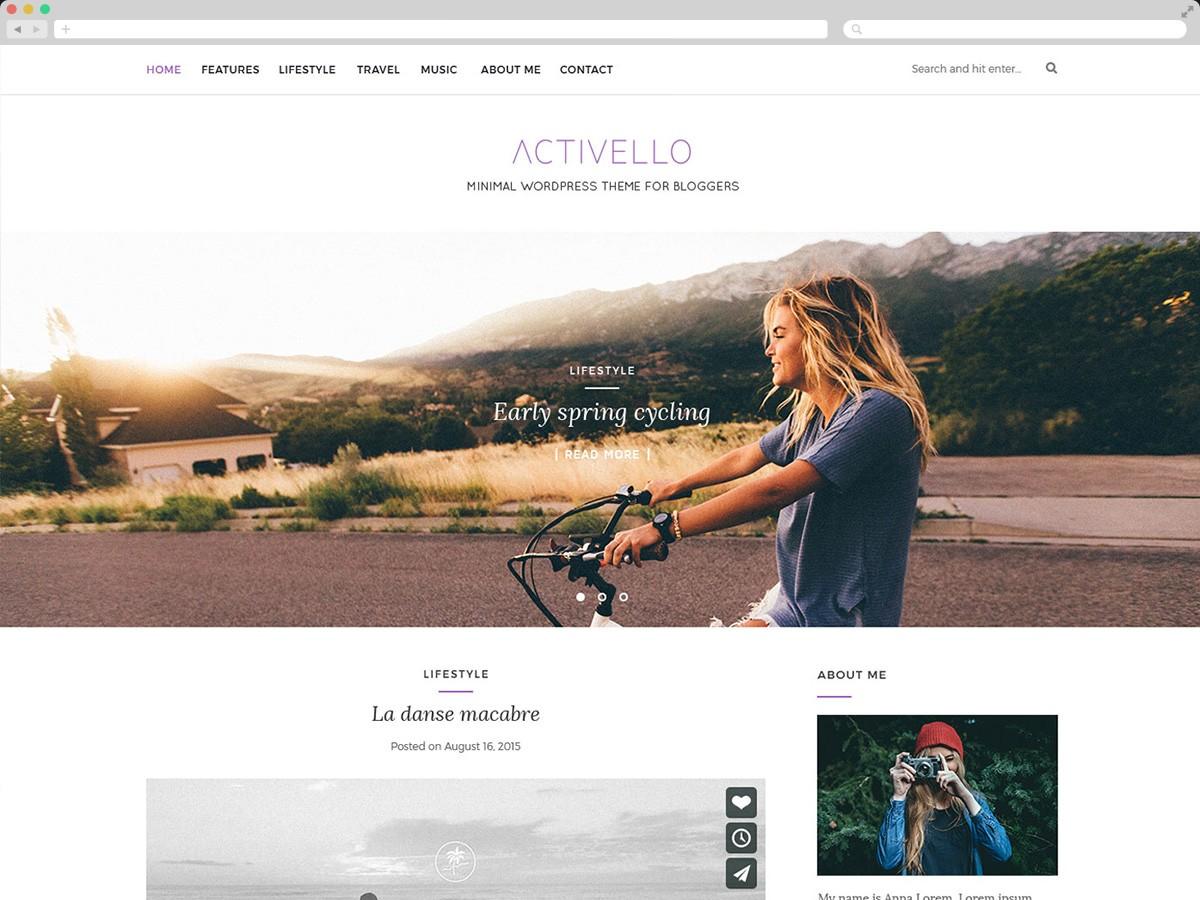 Activello бесплатный шаблон Вордпресс