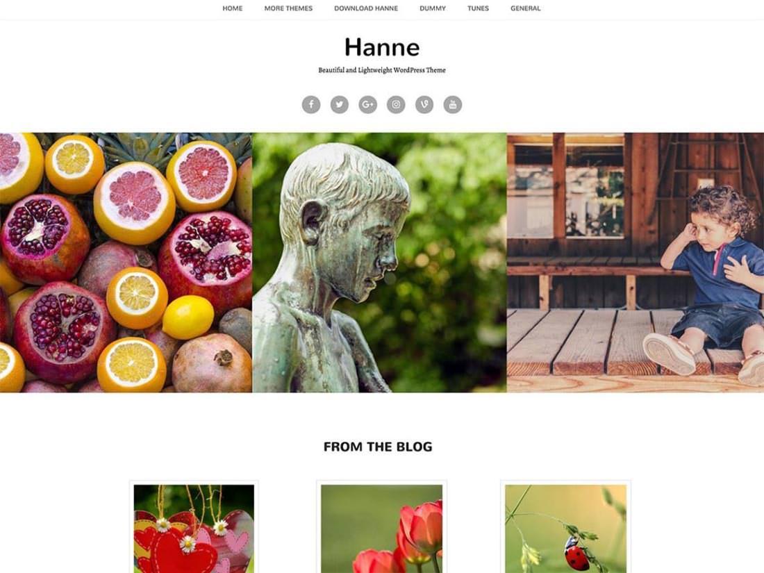 Hanne шаблон для WordPress