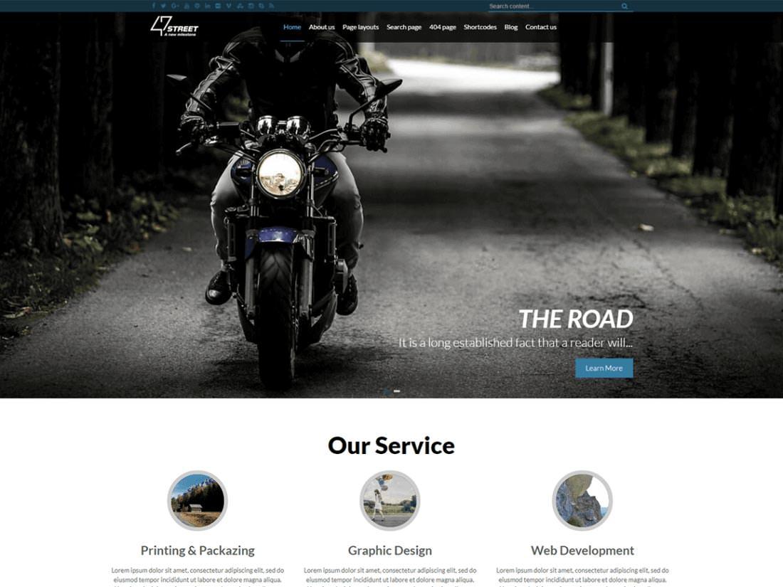 Fortyseven Street - бесплатная тема для WordPress