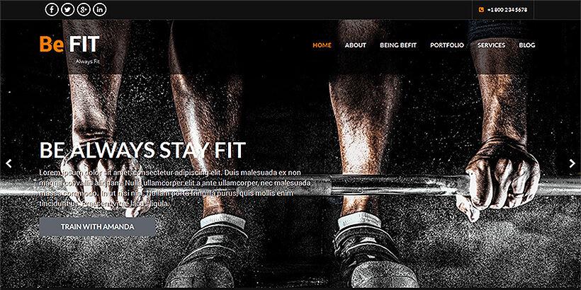 SKT Befit шаблон для сайта о фитнесе