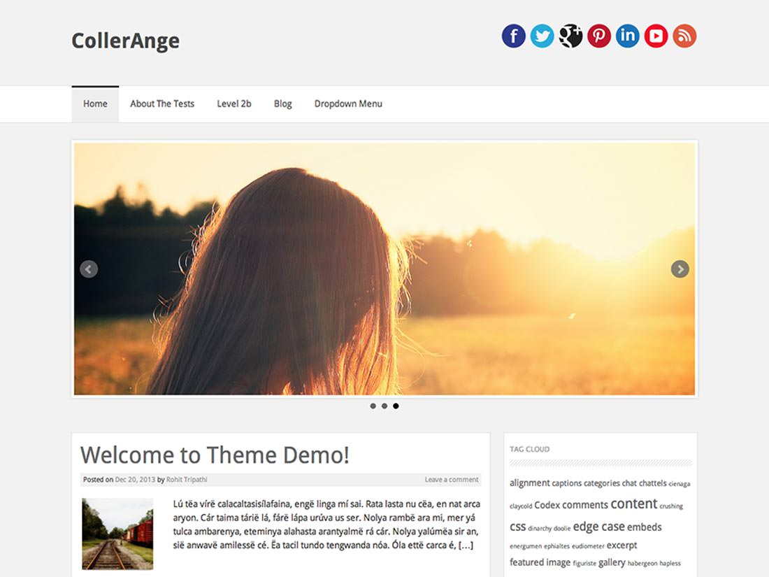 CollerAnge скин для сайта на WordPress