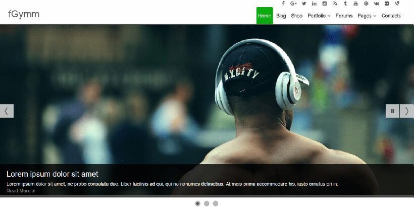 fGymm бесплатная WordPress тема