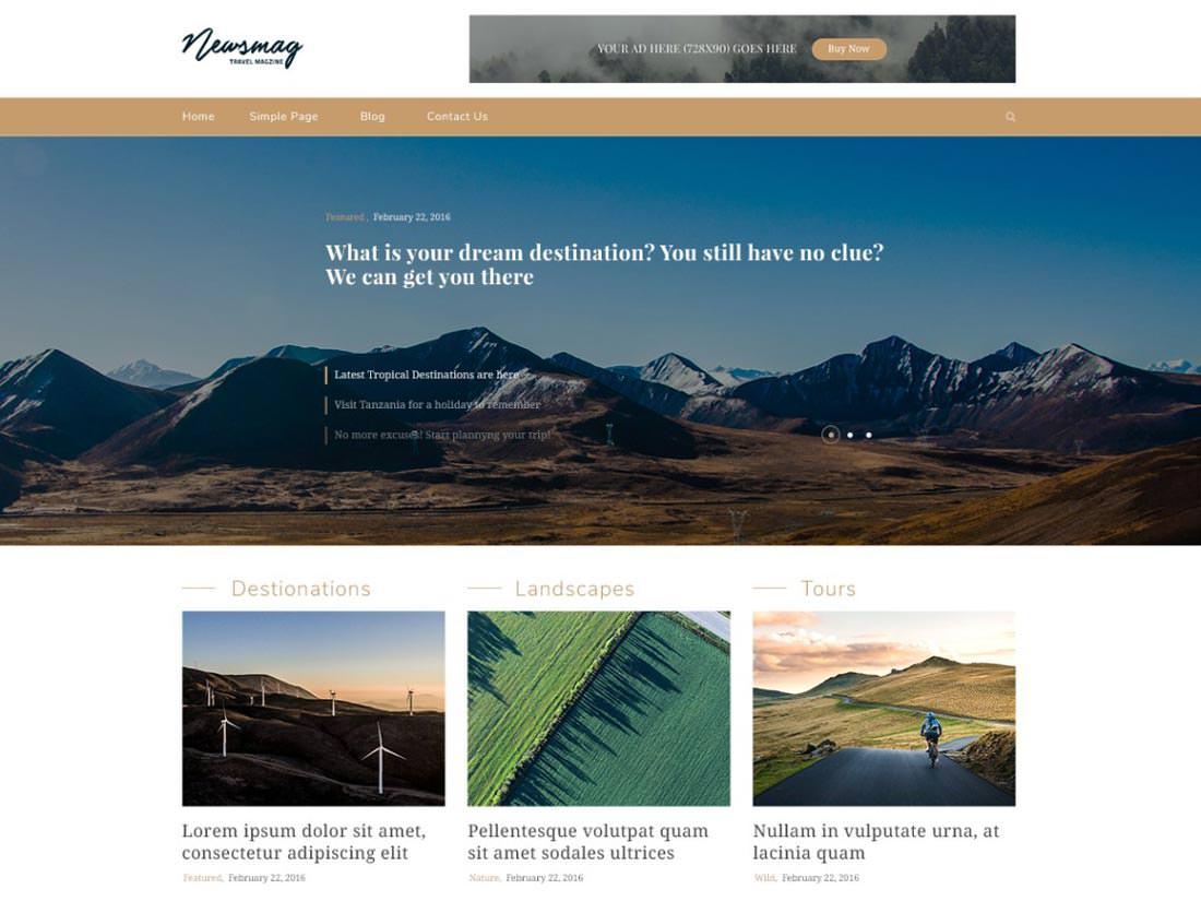 NatureMag Lite бесплатная тема для Вордпресс
