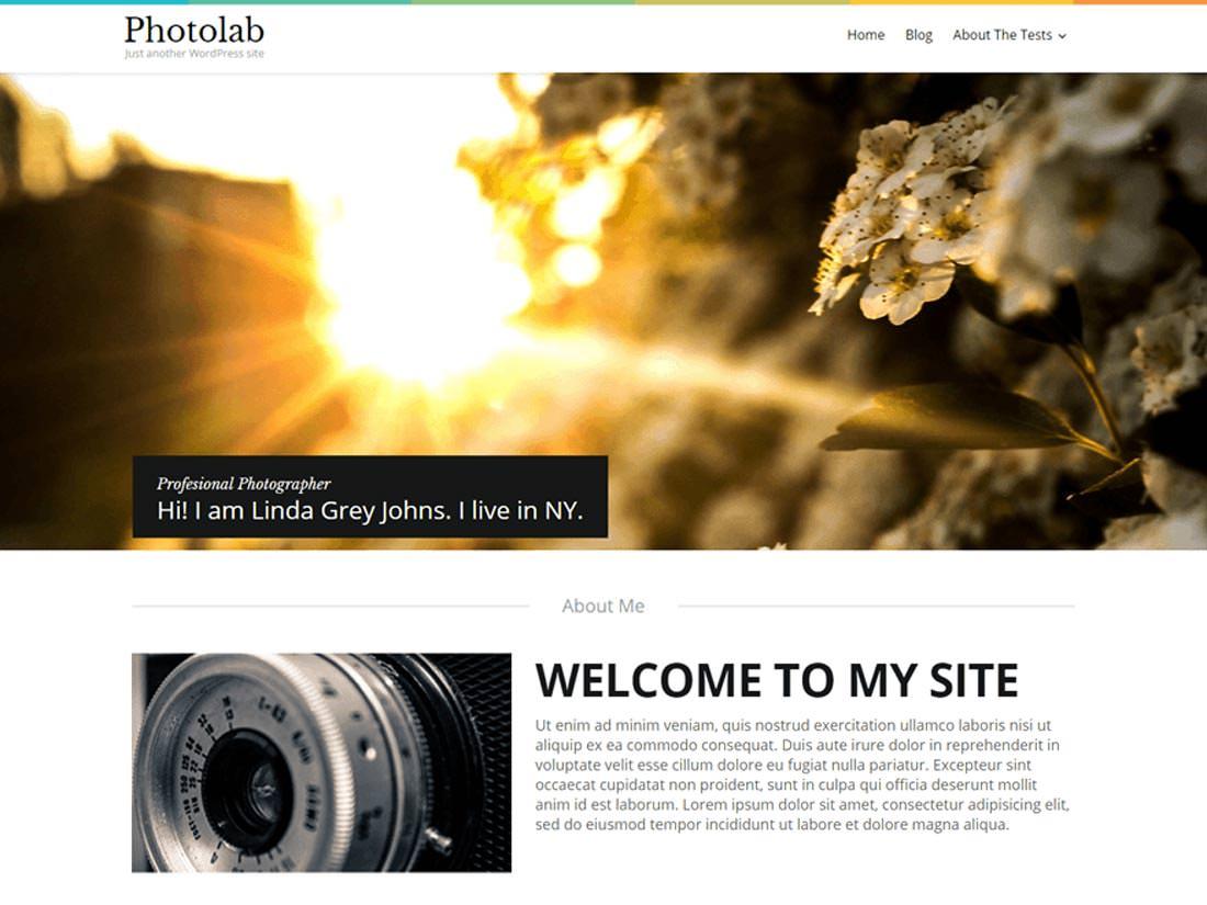 PhotoLab бесплатный дизайн для сайта