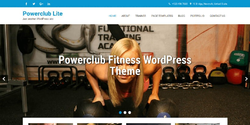 PowerClub Lite бесплатный шаблон WordPress