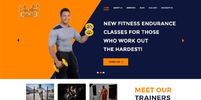 WP фитнес бесплатный шаблон Вордпресс