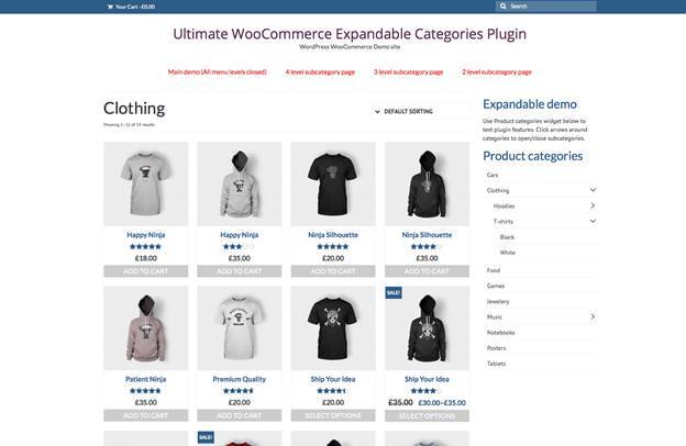 """Раздел """"Категории товаров"""", созданный с помощью плагина WooCommerce"""