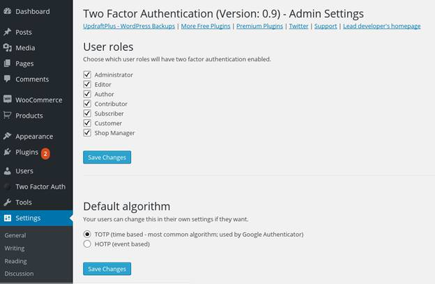 Настройка плагина Keyy 2 Factor Authentication