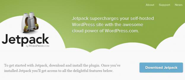 Страница загрузки Jetpack