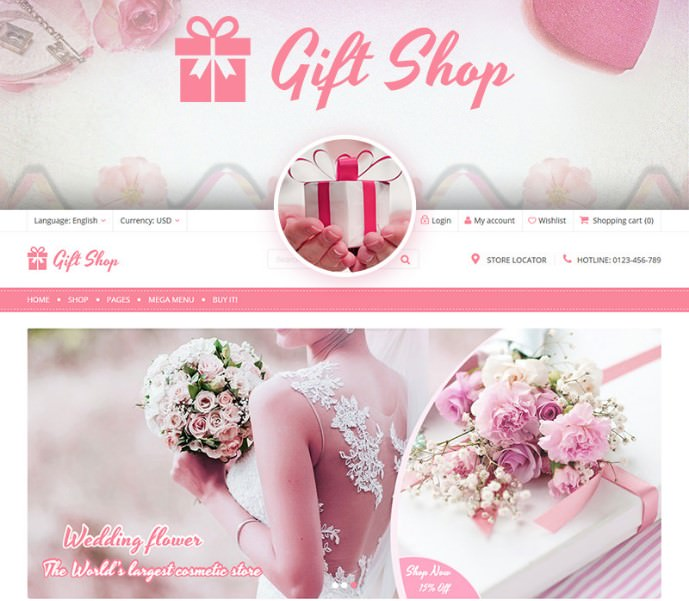 WooCommerce шаблон Giftshop - For Gift, Flower, Toy and Accessories stores