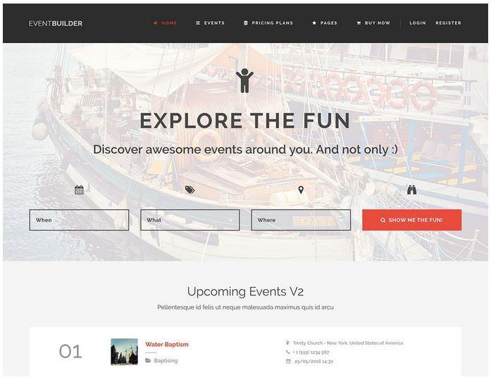 EventBuilder шаблон для портала событий