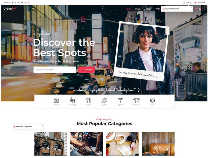 Urbango - это премиум каталог и тема WordPress