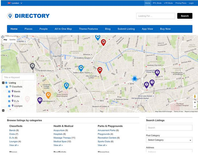 directory бесплатный шаблон для сайта каталога