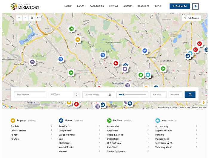 directory шаблон для сайта компании с каталогом