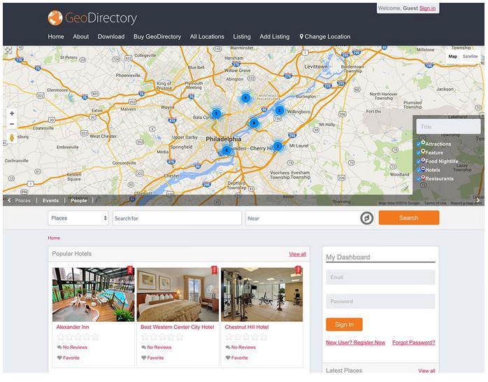 geodirectory шаблон для сайта каталога WordPress
