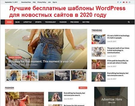 35 лучших бесплатных шаблонов WordPress для новостных сайтов в 2020