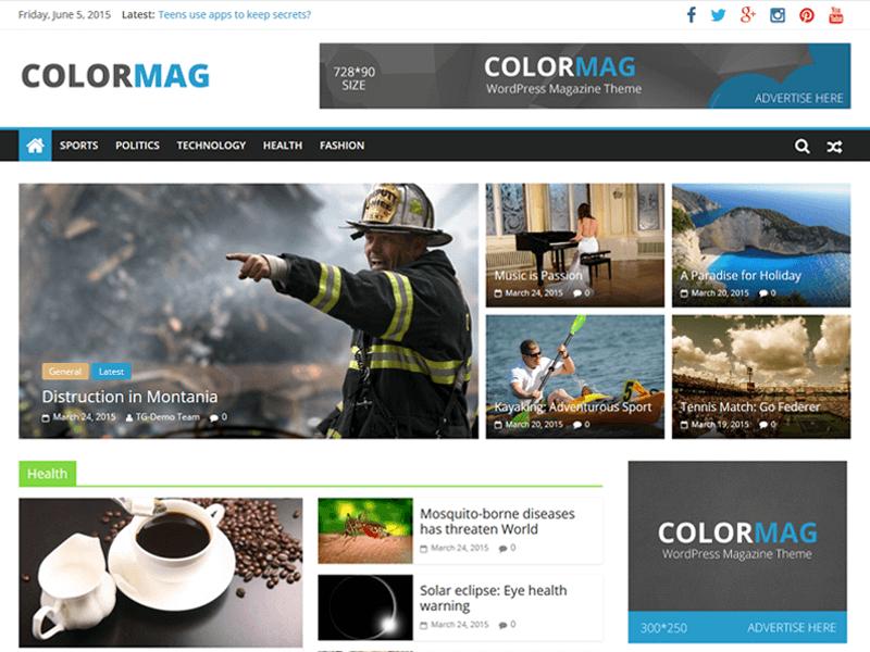 Colormag бесплатный шаблон
