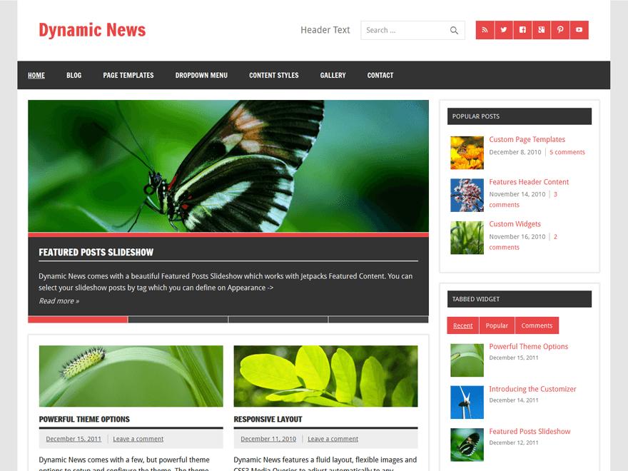 Dynamic News Lite бесплатная тема ВП