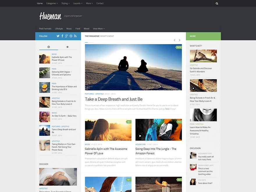 Тема Hueman бесплатная тема WordPress