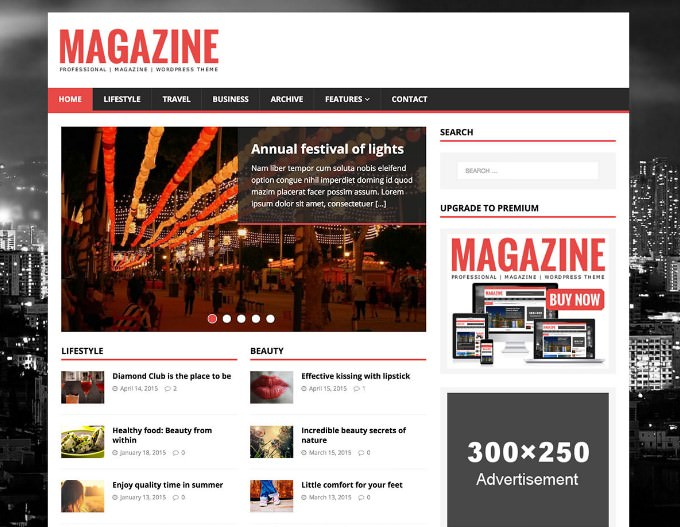 MH Magazine Lite WordPress тема