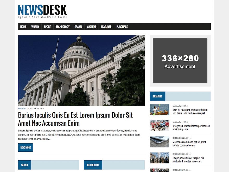 Newsdesk Lite шаблон для новостного сайта
