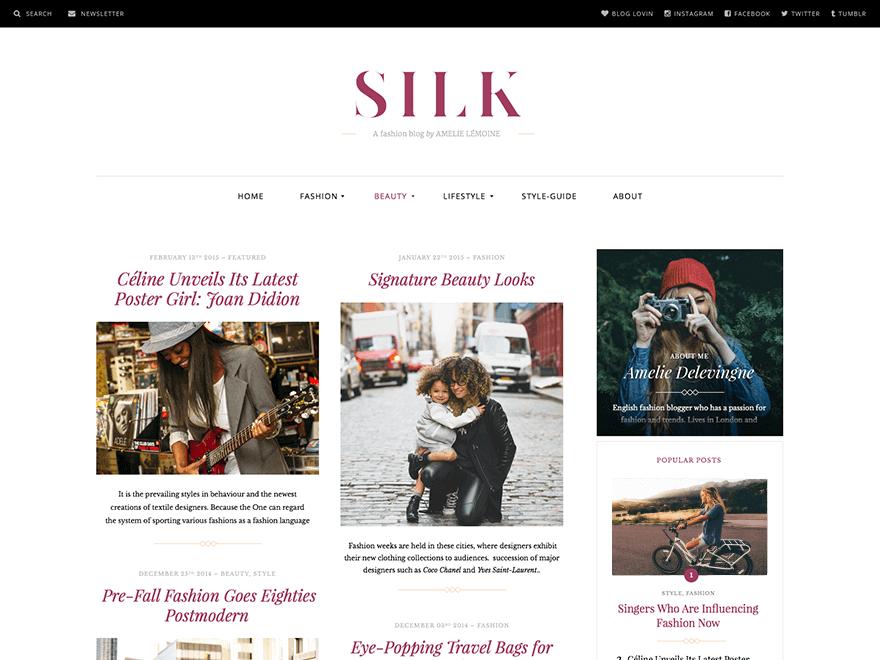 Бесплатная тема Silk Lite