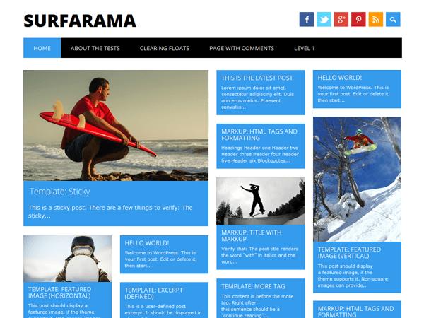 Surfarama бесплатная тема
