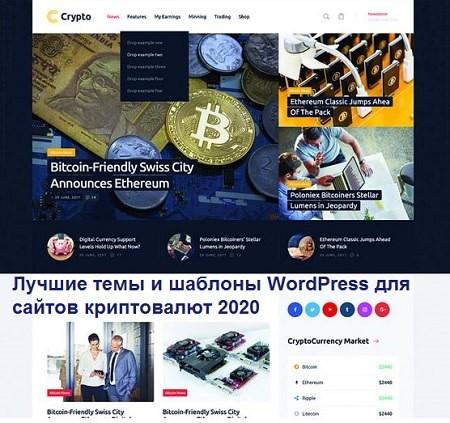 Лучшие темы и шаблоны WordPress для сайтов криптовалют 2020