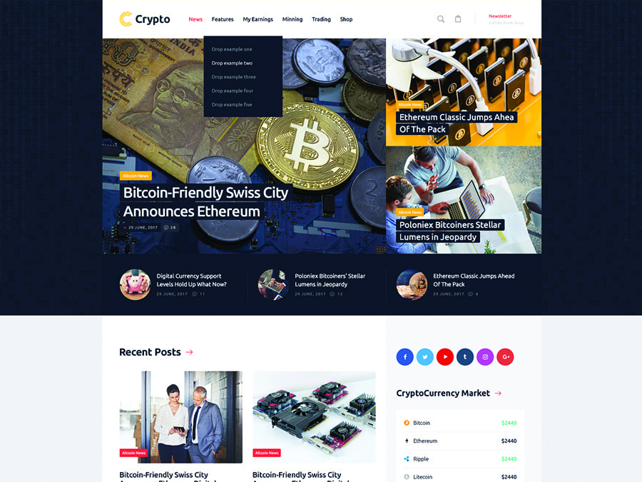 Crypton | A Multi-Purpose Cryptocurrency & ICO WordPress Theme