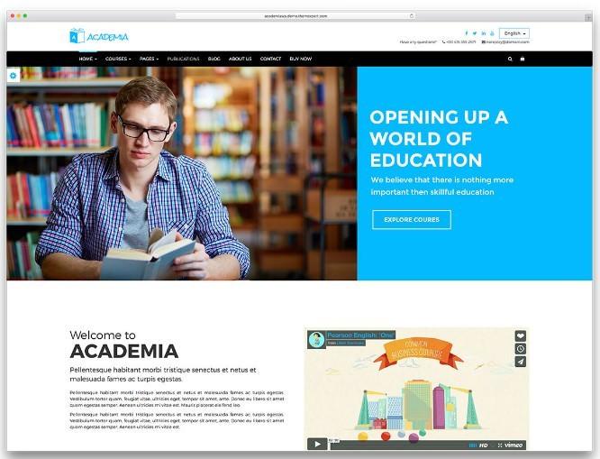 Шаблон Academia