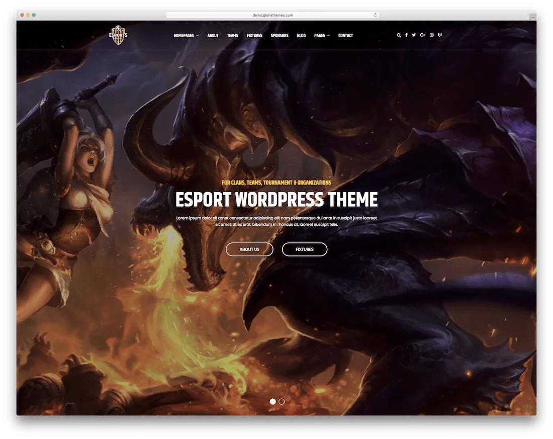 20+ лучших игровых премиум шаблонов WordPress 2020