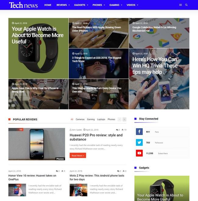 Kolyoum! новостная WordPress тема